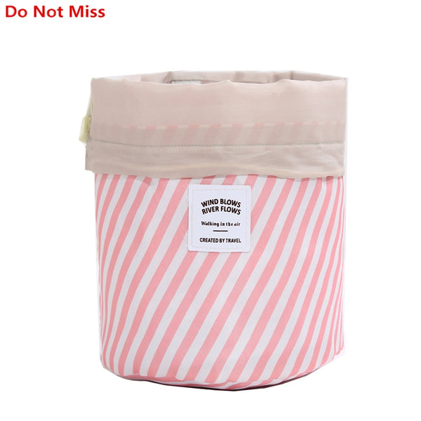 The Stripey Barrel Makeup and Cosmetic Bag - 11 Funky Colors