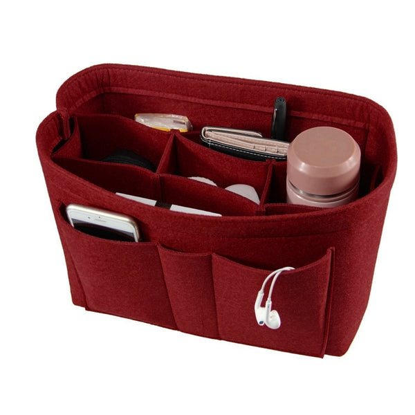 The Smooth Felt Makeup Bag and Cosmetics Organizer - 3 Silky Colors