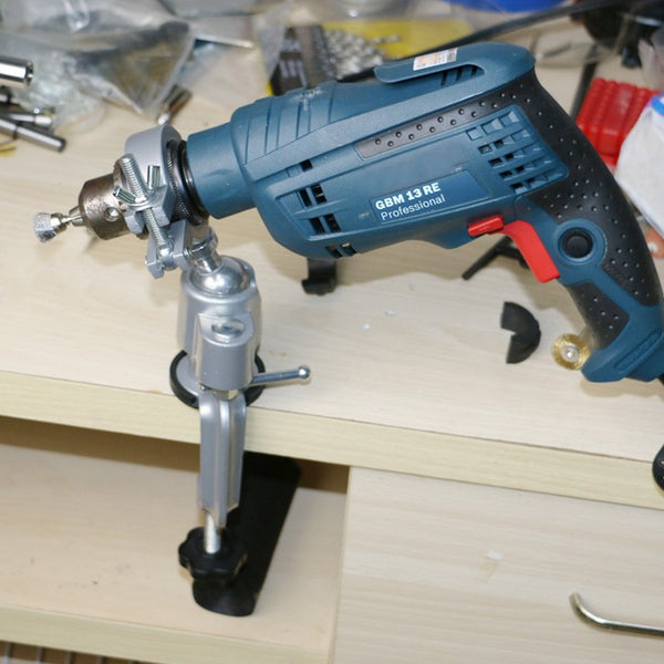 Electric Grinder Stand and Drill Jig Holder with 360 Deg Swivel Head
