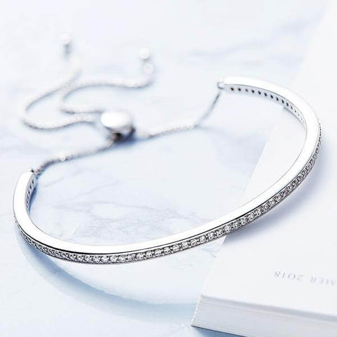 73 CZ Diamonds Bangle Bracelet