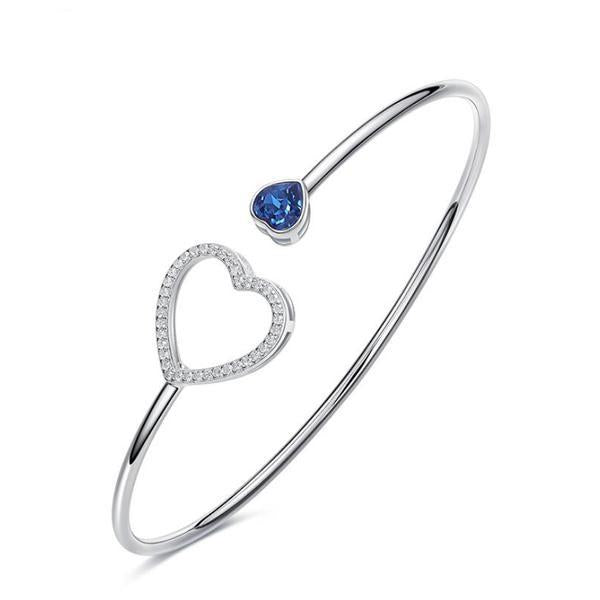 Love Charm Heart Women Bangle Bracelet
