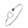 Image of Love Charm Heart Women Bangle Bracelet