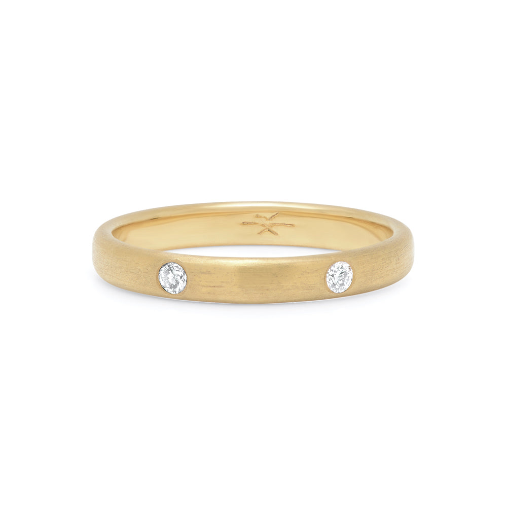 2-STONE STACKING RING - GOLD VERMEIL