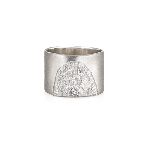 DECO FAN CIGAR BAND RING