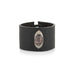 DECO SHELL OVAL LEATHER BRACELET