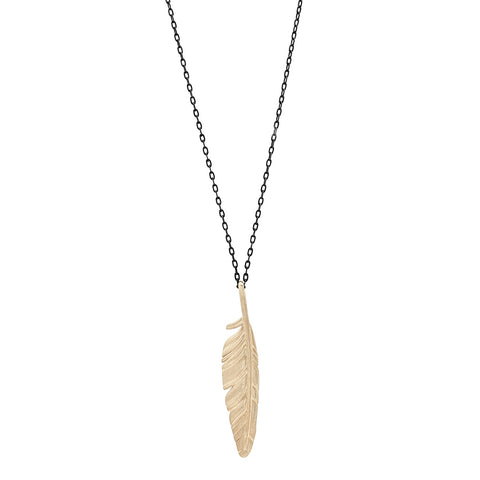 FLIGHT FEATHER CHAIN NECKLACE