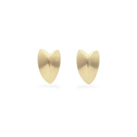 KNIFE EDGE HEART STUDS