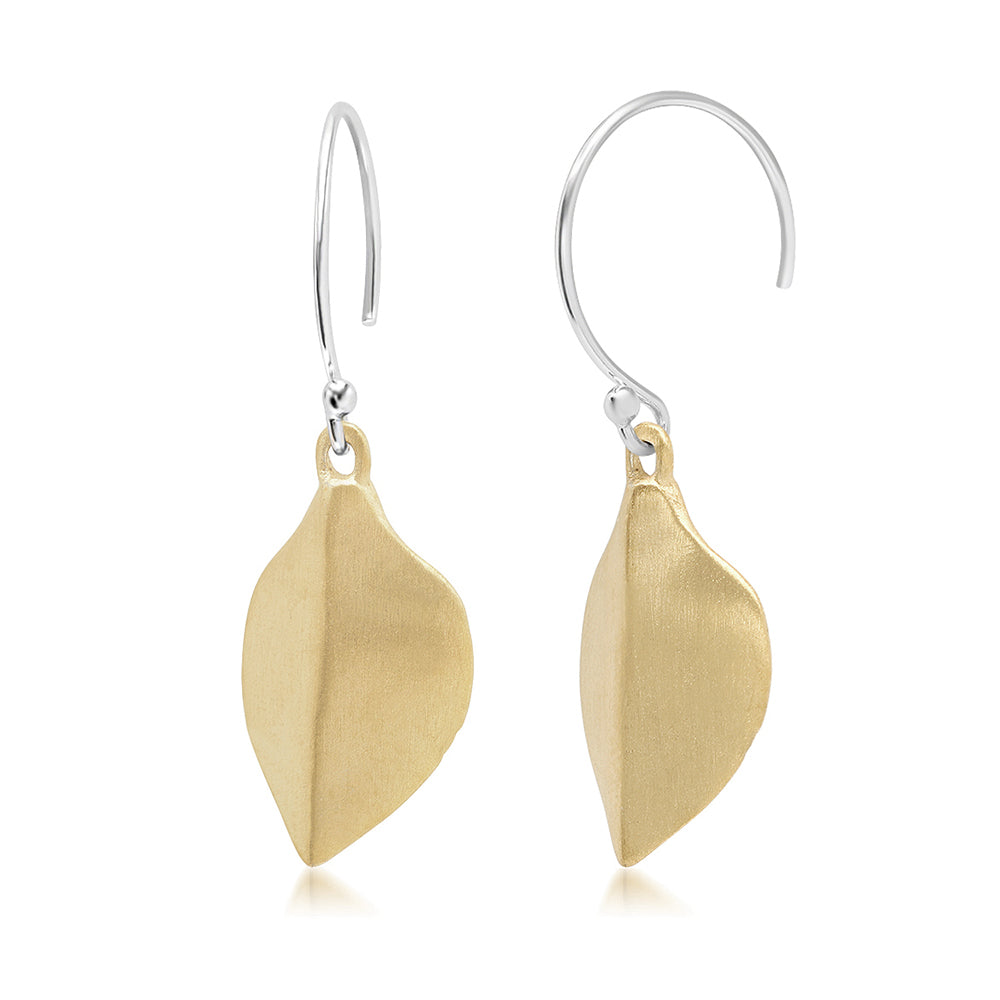 MINI LEAF EARRINGS - GOLD VERMEIL
