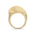RIDGED SHELL RING