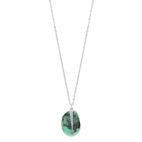 EMERALD SLICE TENDRIL NECKLACE