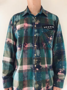 S/Z SPECKLED FLANNEL WOVEN SHIRT SZ L