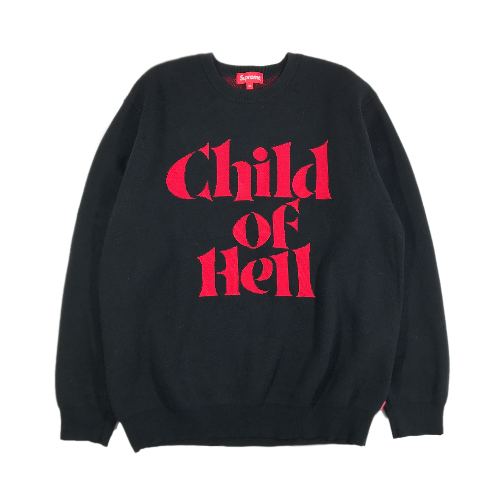 SUPREME CHILD OF HELL KNITTED SWEATER