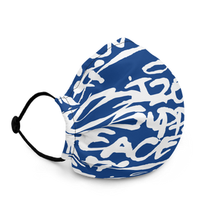 Script Face Mask Royal