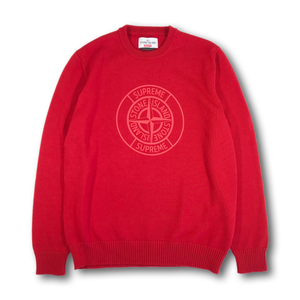 SUPREME X STONE ISLAND KNITTED SWEATER