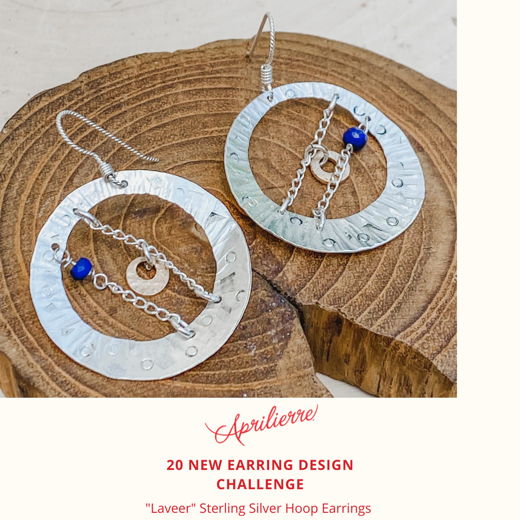 "Earring Design #2~ ""Laveer"" Sterling Silver Earrings with Lapis"