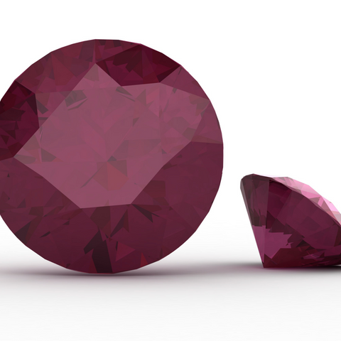 Image of a faceted ruby