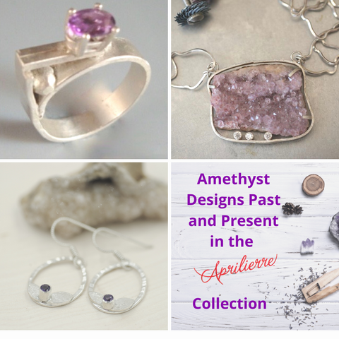 amethyst jewelry by Aprilierre