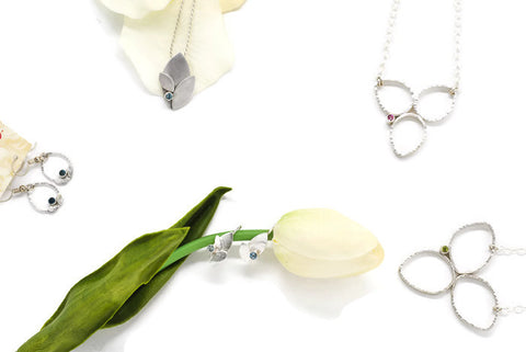 Aprilierre Jewelry sterling silver bloom collection