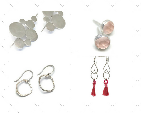 Aprilierre Sterling silver earring collection