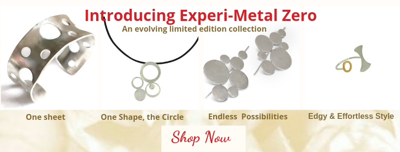 Sterling silver jewelry with modern circular  designs