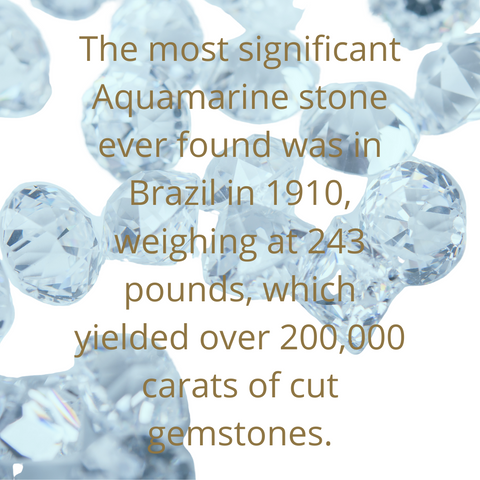 aquamarines and text
