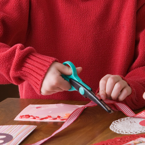 child making valentine