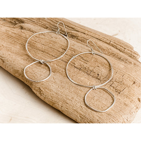 """Les Circle Duet"" ~ Sterling Silver Statement Earrings - Aprilierre"