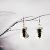 """Awaken Balance"" ~Sterling Silver Earrings with Faceted Black Onyx - Aprilierre"