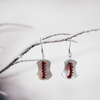 """Awaken Balance""  ~Sterling Silver Earrings with Faceted Garnet gemstones - Aprilierre"