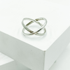 Ring-Sterling Silver Criss-Cross Ring - Aprilierre