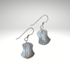"""Awaken Balance"" ~Sterling Silver Earrings with Faceted Swiss Blue Topaz Gemstones - Aprilierre"