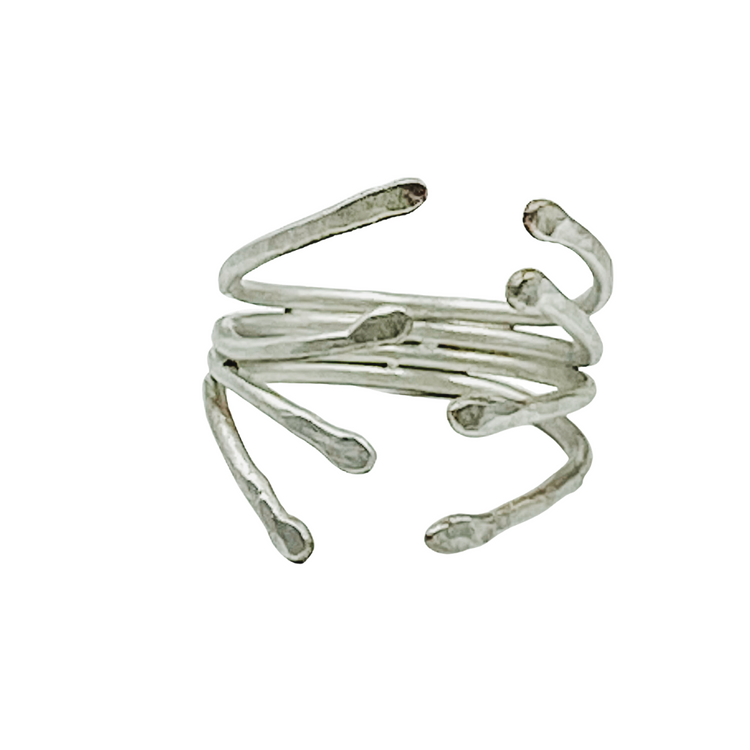 Ring-Sterling Silver Wrap Ring - Aprilierre