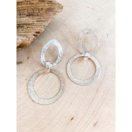 #4 The Coda~Sterling Silver Textured Statement Earrings - Aprilierre