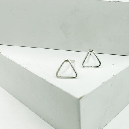 Tiny Triangles ~ Sterling Silver Studs - Aprilierre