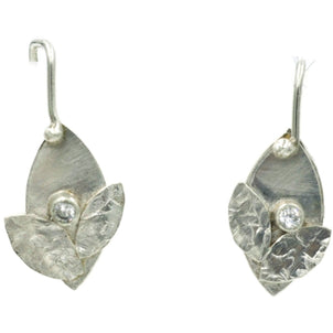 Bud Earrings Sterling Silver with Diamond CZ - Aprilierre