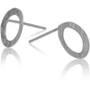Sterling Silver Hammered Circle Stud Earrings - Aprilierre