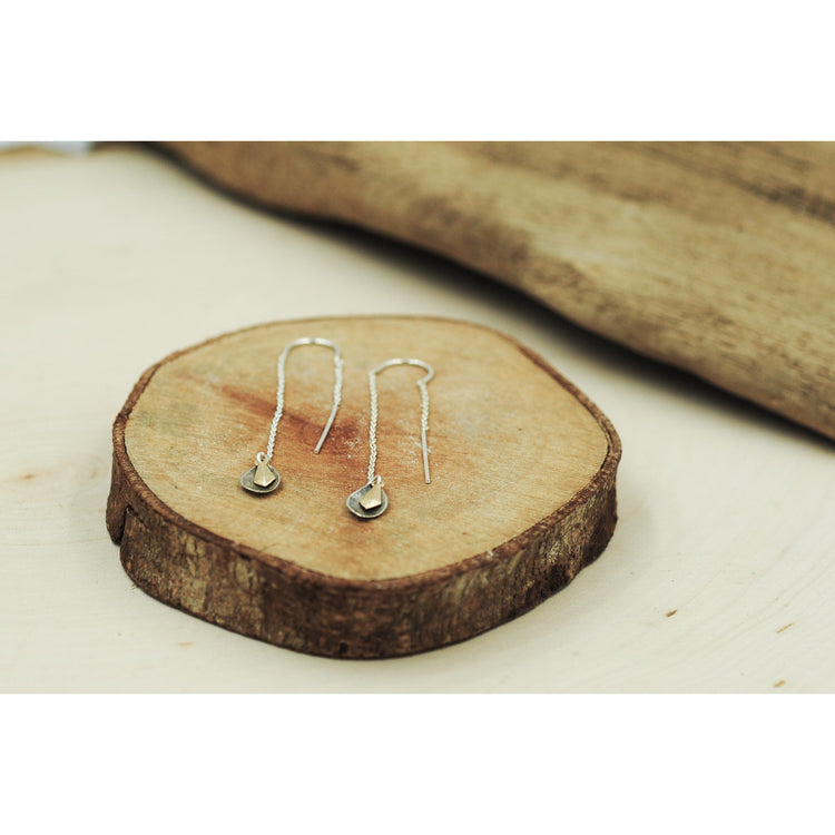 Earring Threads Sterling Silver Petals - Aprilierre