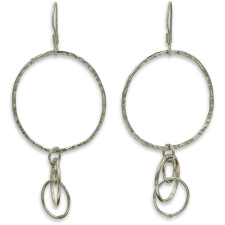Sterling Silver Statement Circle Earrings - Aprilierre