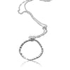 Power Sterling Silver Circle Necklace 20 inches - Aprilierre