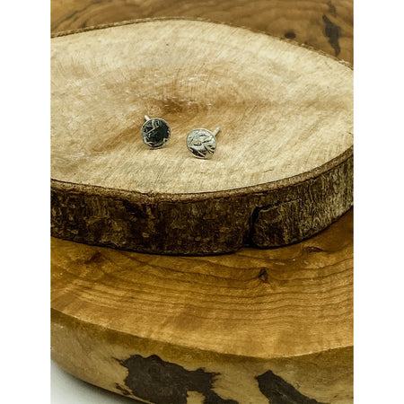 Tiny Textured Sterling Silver Studs - Aprilierre