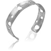 Zero Collection- Sterling Silver Cuff Bracelet 1/2 inch wide - Aprilierre