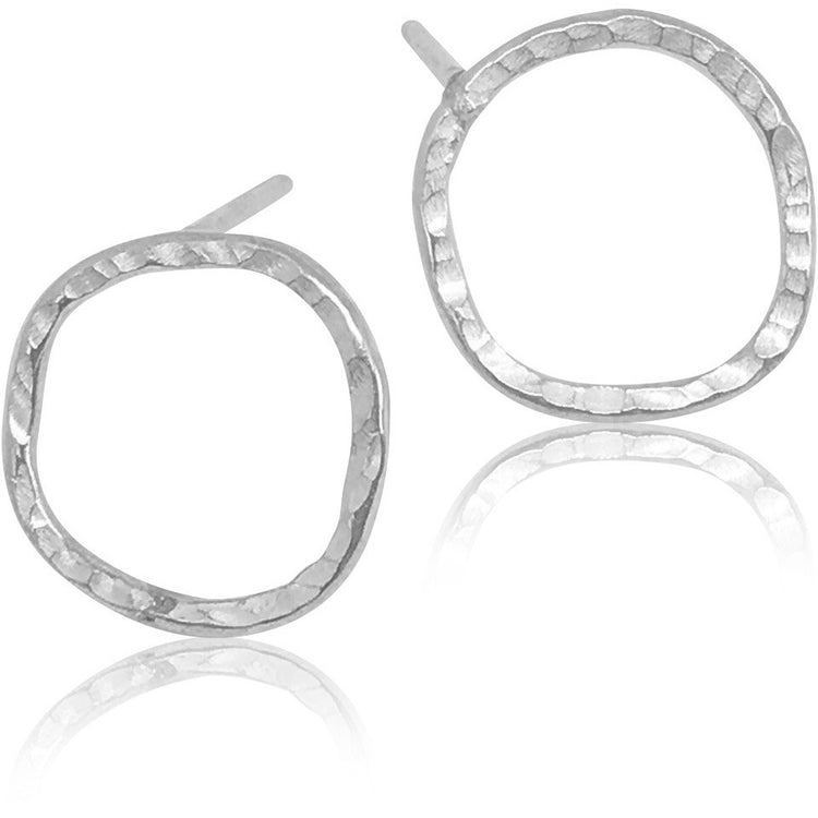 Power Sterling Silver Circle Stud Earrings - Aprilierre