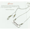 "Necklace-One Word Mantra ""Grow"" - Aprilierre"