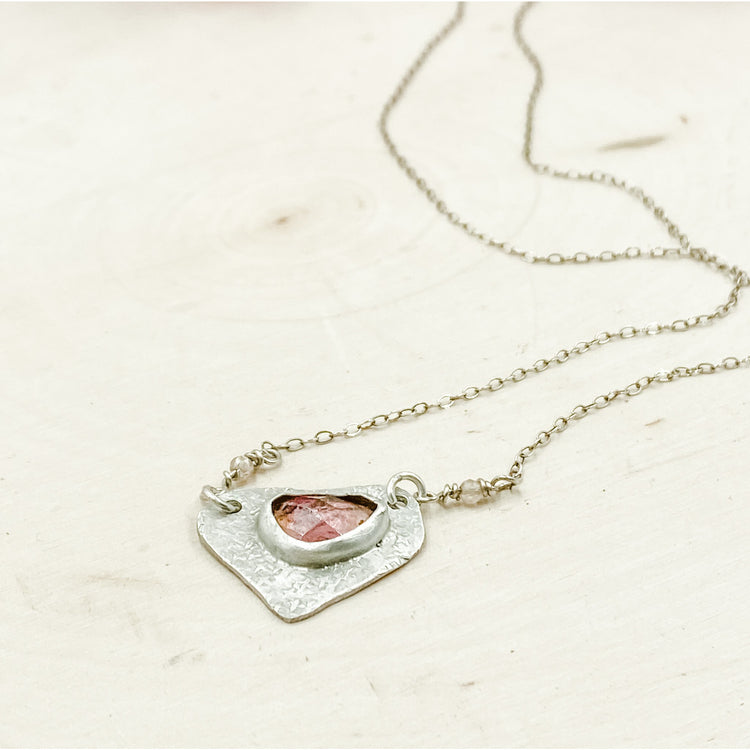 Sterling silver Pink Tourmaline Necklace - Aprilierre