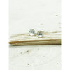 Tiny Hearts Sterling Silver Stamped Stud Earrings - Aprilierre