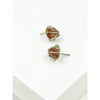 Sterling Silver Earring Studs with Raw Brazilian Beryl Gemstones - Aprilierre