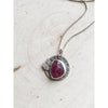 """Fire with In""  Ruby Sapphire ~ Sterling Silver Pendant Necklace - Aprilierre"
