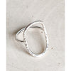 "Sterling Silver Open Circle Ring ""Circle of life"" - Aprilierre"