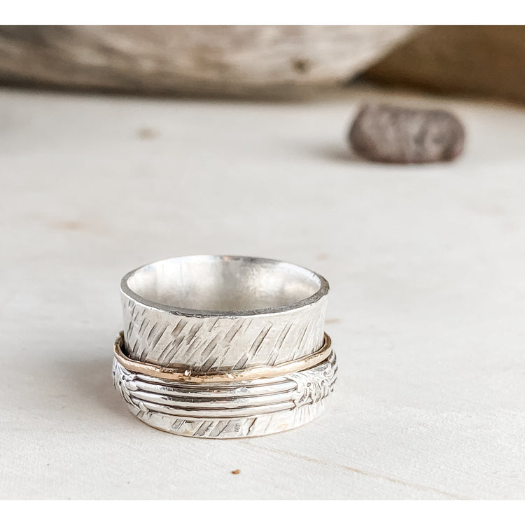 Meditative Moments~Sterling Silver Statement Ring Size 8 - Aprilierre
