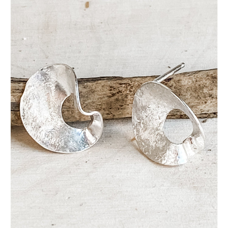 Mobius Movement ~ Sterling Silver Stud Earrings - Aprilierre